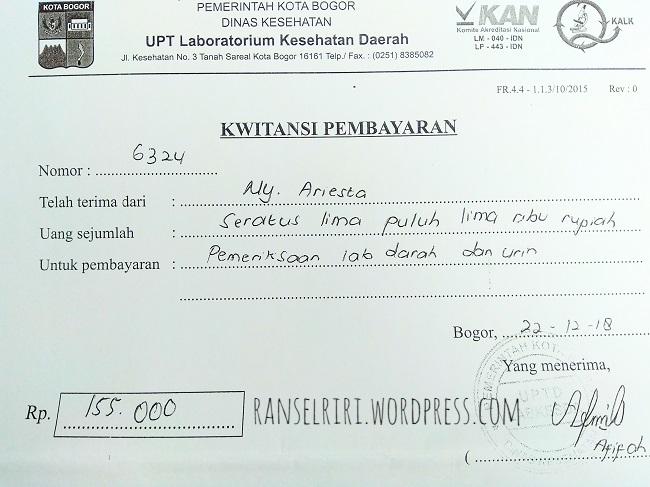 Biaya Tes Darah Labkesda Bogor