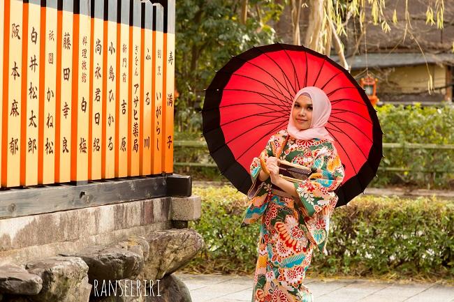Kimono Yumeyakata Kyoto sewa - ranselriri