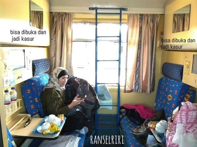 Sleeper train di Iran - ranselriri